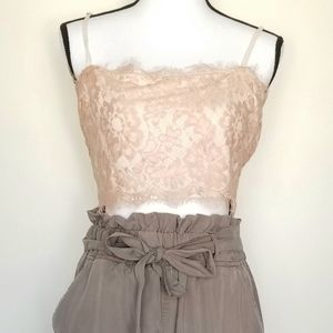Free People intimates lace crop tank Size M/L